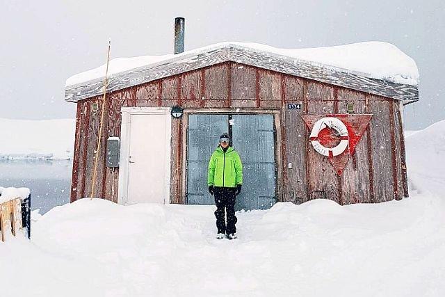 Krzysztof Gonciarz na Grenlandii