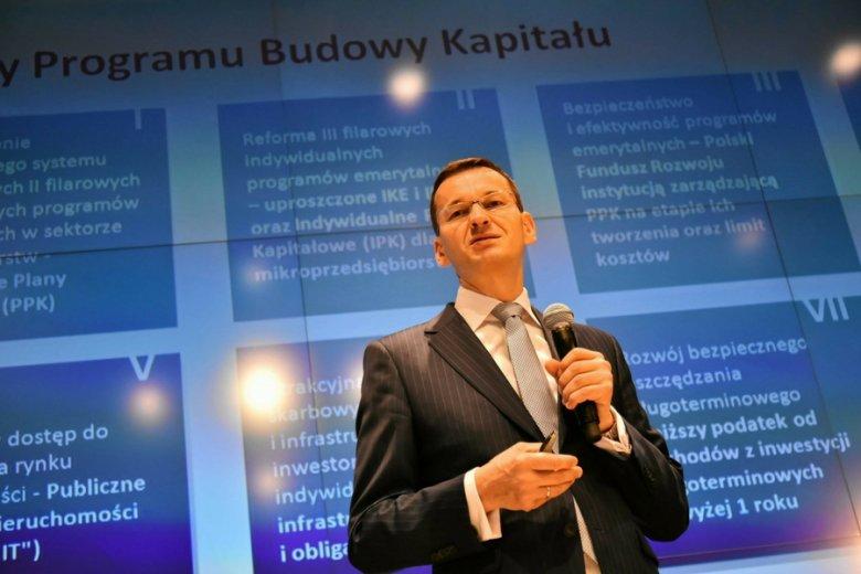 Mateusz Morawiecki podczas pierwszego podejścia do zmian w OFE, w lipcu br.