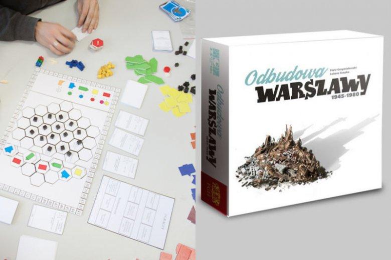Prototyp gry i nowa wersja pudełka.