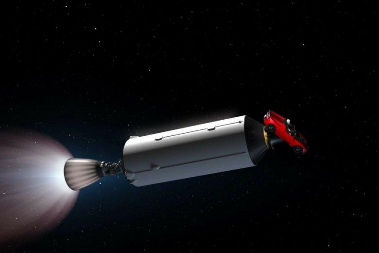 Stara Tesla Elona Muska ma latać na orbicie słońca.
