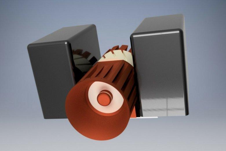 Wizualizacja opracowywanego przez Sat Revolution silnika jonowego (wraz z kondensatorami).
