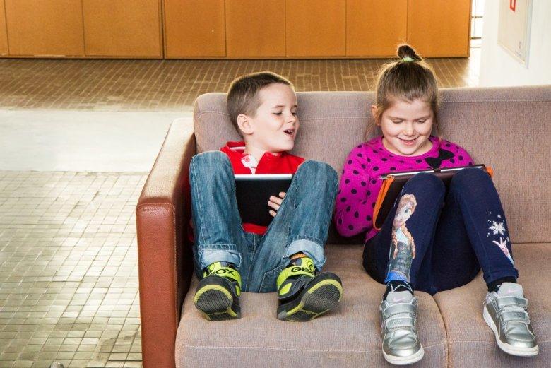 Dzieci programują na Scratch Jr.