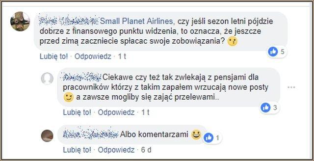 Small Planet wielu klientom pisze wprost, że nie ma pieniędzy. Reakcje są różne