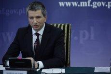 Szef Ministerstwa Finansów - Mateusz Szczurek.