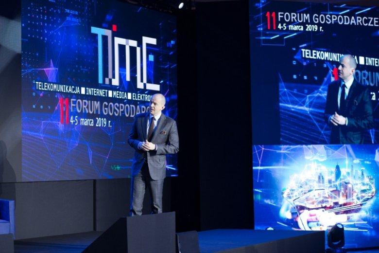 Prezes UKE Marcin Cichy podczas 11 FG TIME.