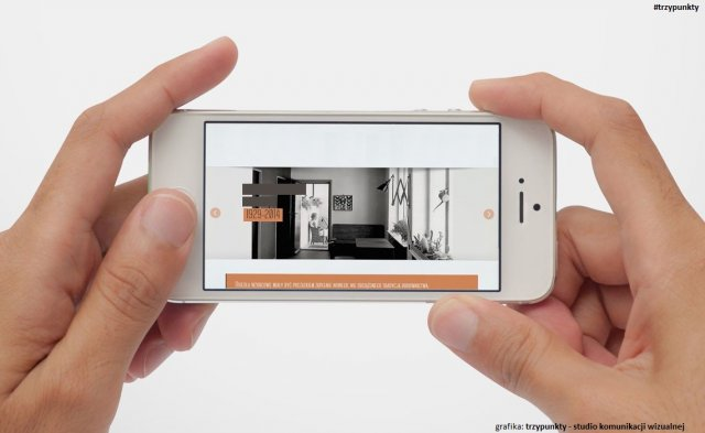 Grafika dotycząca mobilnej strony www zrealizowanej przez trzypunkty - studio komunikacji wizualnej i użyczona na potrzeby artykułu.