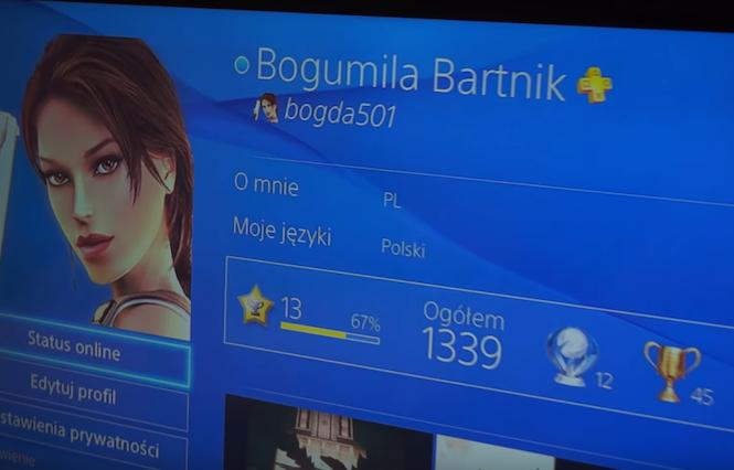 Babcia Bogusia ma już pokaźną liczbę trofeów na PlayStation. Śmieje się,że syn chce przestać grać, bo ma gorsze wyniki od niej.