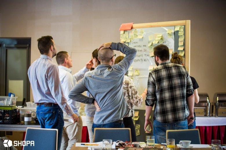 Warsztaty Design Thinking prowadzone dla firmy Sokołów S.A.