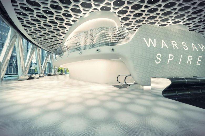 Wizualizacja kompleksu biurowego Warsaw Spire.