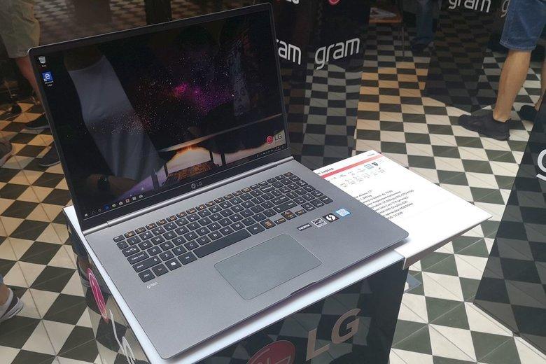 LG chwali się, że ich 17-calowy ultrabook jest najlżejszym urządzeniem w swojej klasie na świecie.