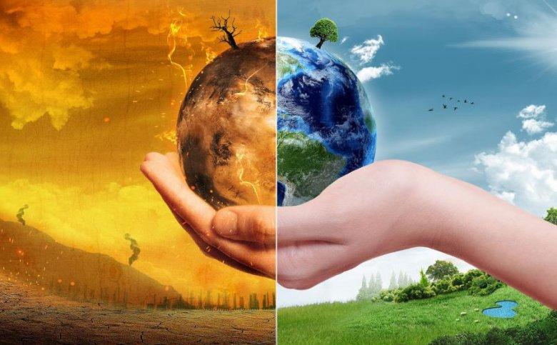 wizualizacja zmian spowodowanych zmianą klimatu
