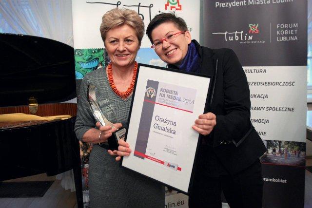 Prof. Ginalska została obsypana za swój wynalazek gradem nagród