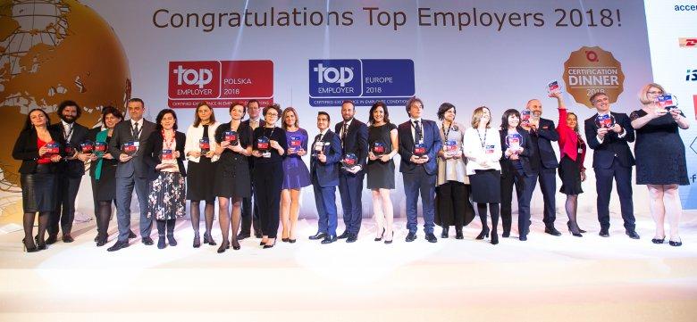 Polscy rekordziści odebrali swój dziewiąty certyfikat Top Employera