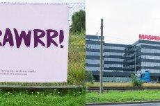 Agencja Dziadek do orzechów obok siedziby Maspex postawiła duży billboard
