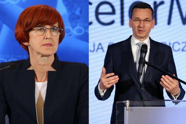 Elżbieta Rafalska i Mateusz Morawiecki.